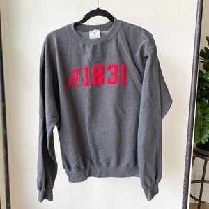 UNIVERSITY OF ALABAMA crew neck sweatshirt 1831